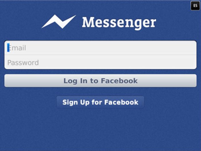 La aplicación Facebook Messenger