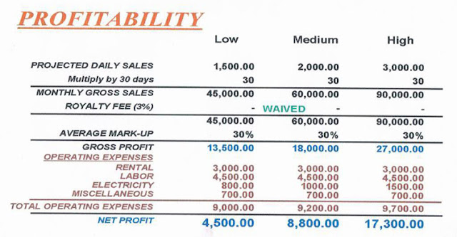 PROFITABILITY - HOW WOULD YOU EARN FROM THIS BUSINESS