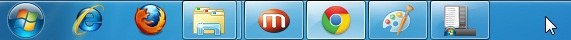 Windows 7 style taskbar