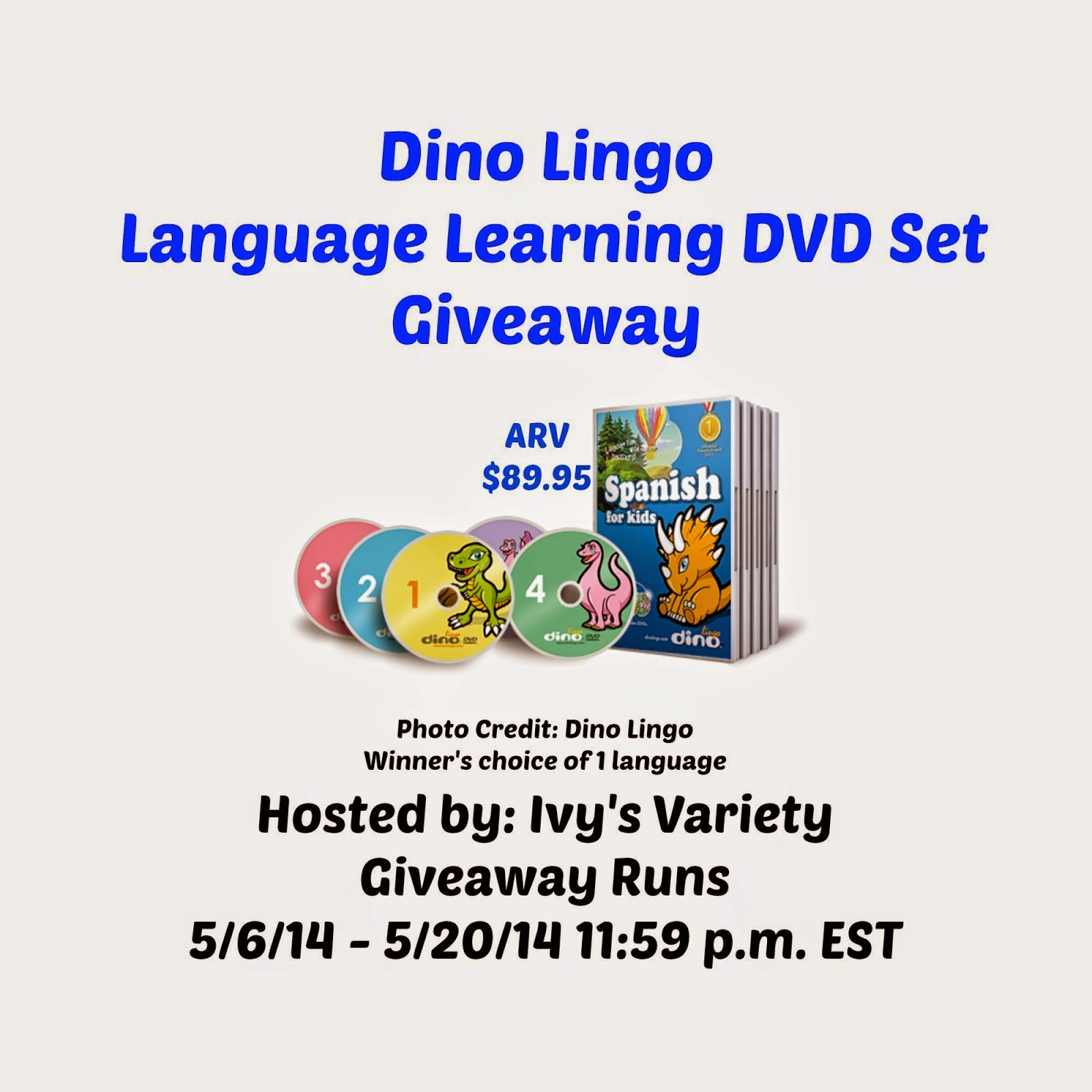 Language Learning 5 DVD Set Giveaway