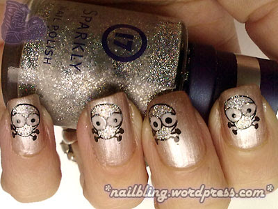 Cute Damian Hirst Skull Nails