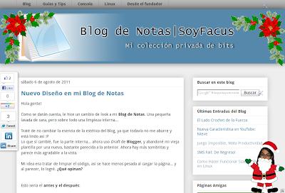 Diseño del Blog Versión 5