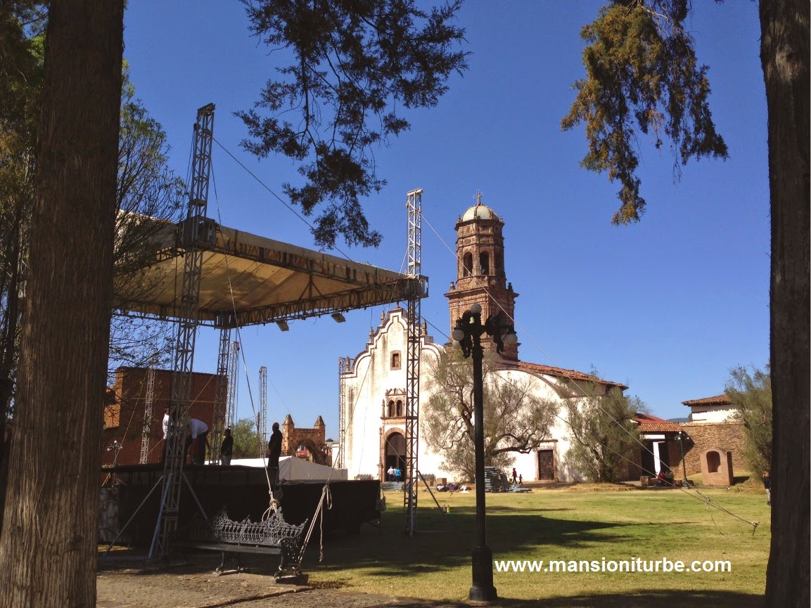 Santa Ana Church in Tzintzuntzan, Michoacán