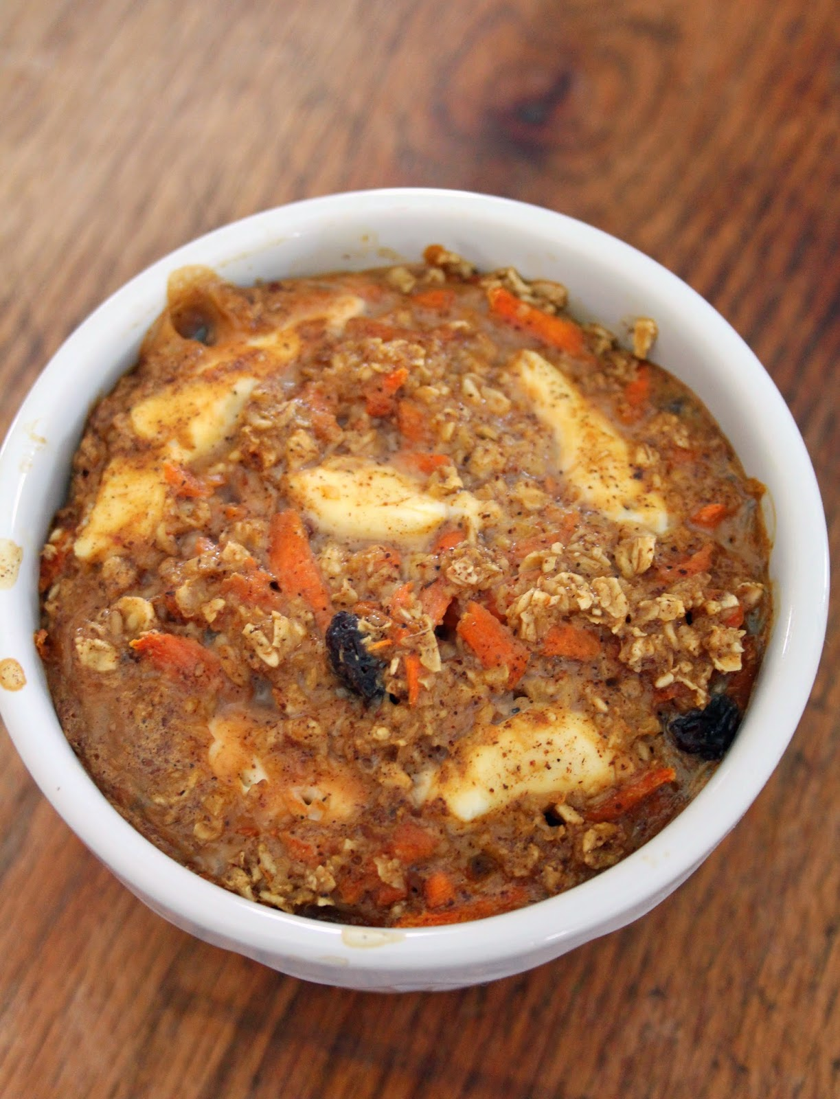 Single Serve Carrot Cake Baked Oatmeal