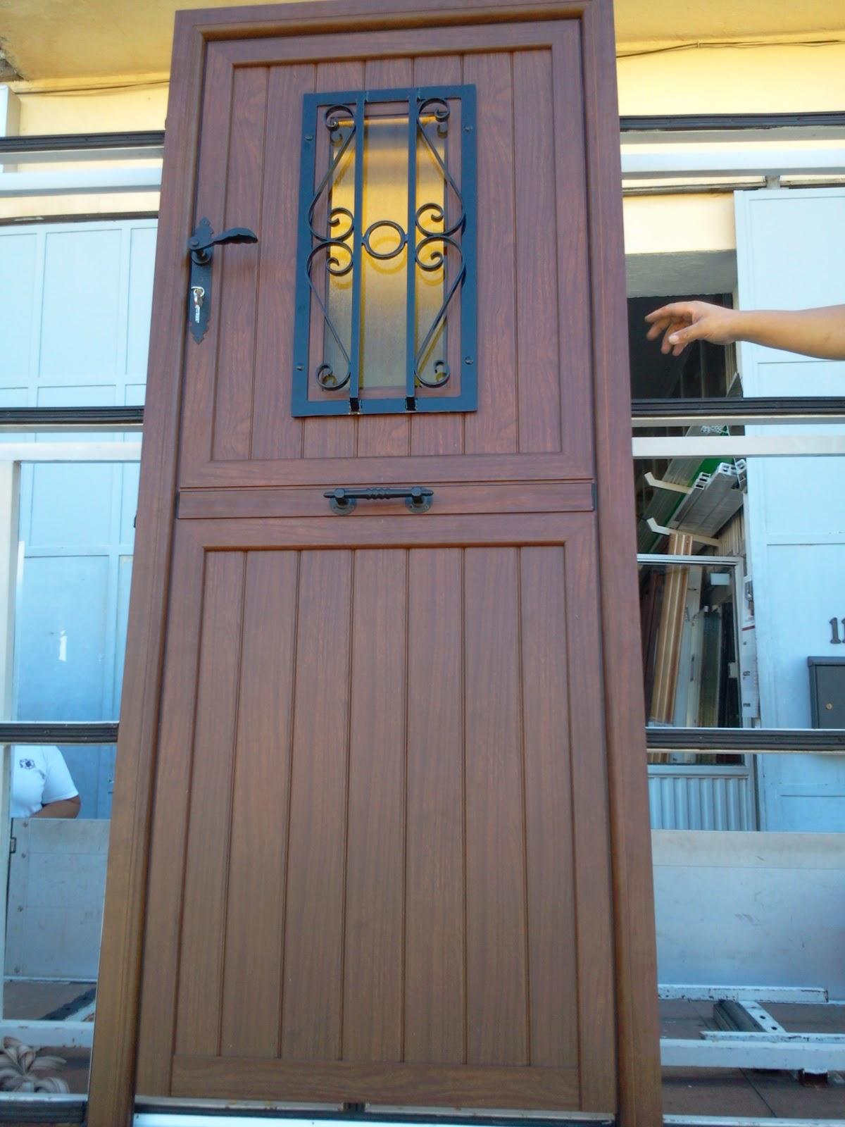 Aluminio y cristal puerta rusticas for Puertas de aluminio rusticas