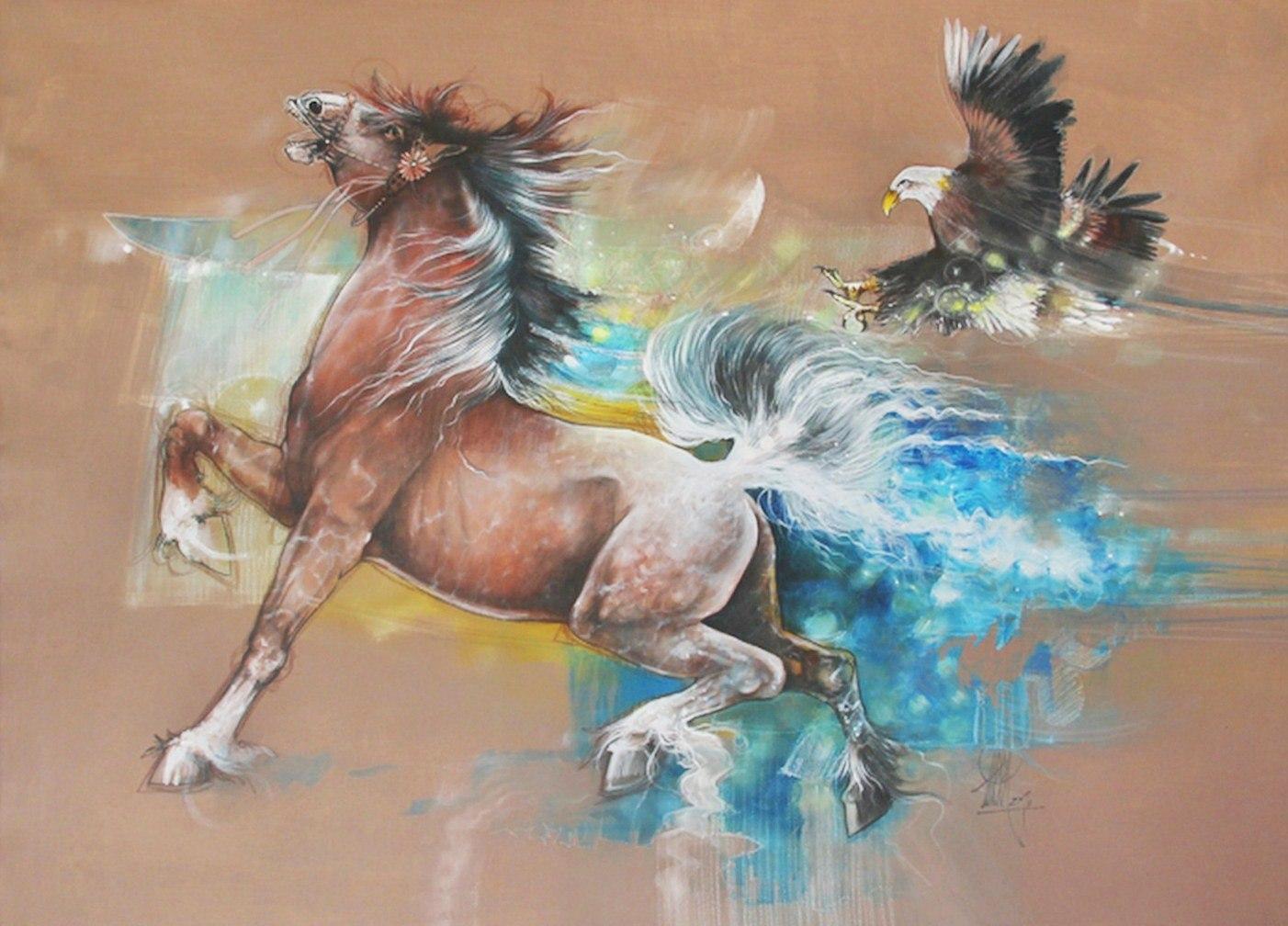 Pinturas cuadros lienzos caballos en pintura moderna - Fotos decorativas ...