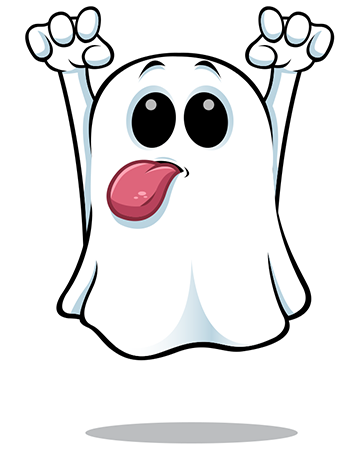 Tongue out ghost