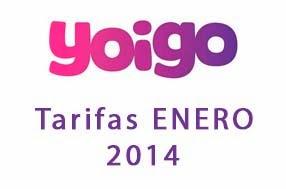 Tarifas Yoigo - ENERO 2014