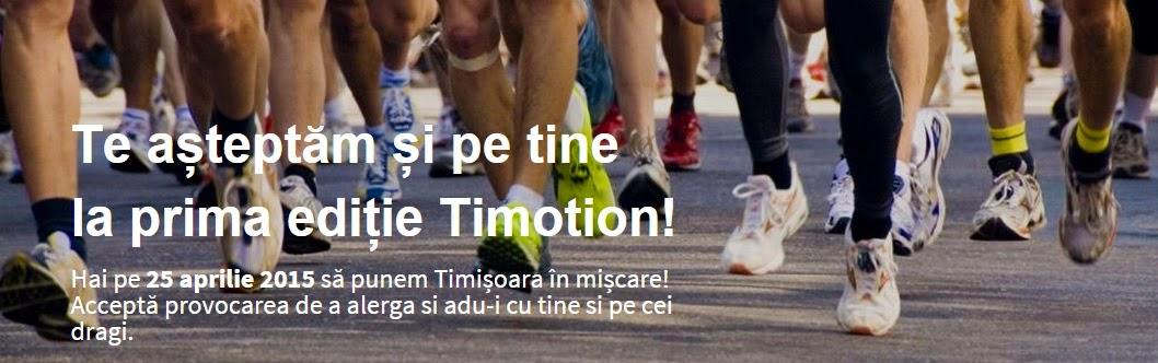 Timotion - Timişoara se mişcă pe 25 Aprilie pentru anumite cauze sociale. Alergare Parcul Rozelor Timişoara