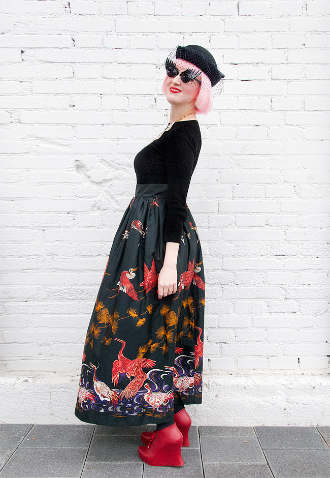 vintage outfit, maxi skirt look, tatty devine