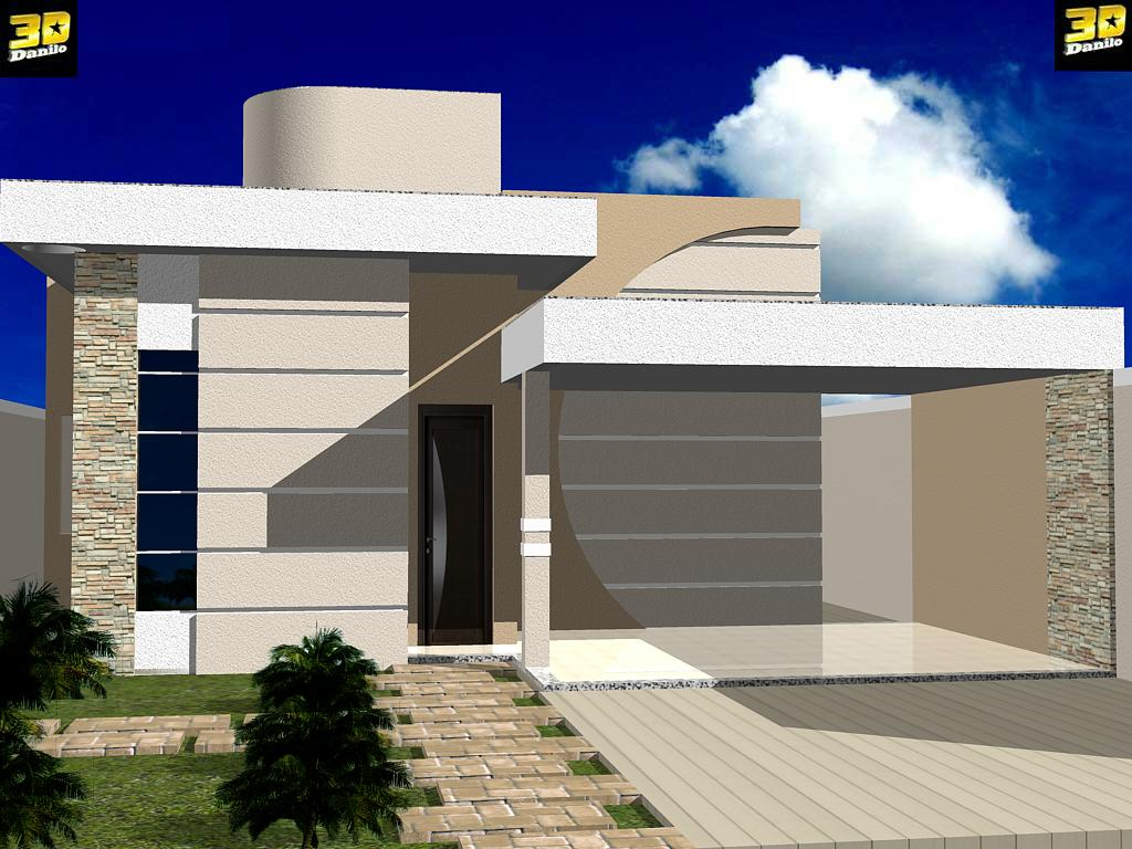 3danilo maquetes eletr nicas 3d fachada 3d casa no b for Fotos de casas modernas brasileiras