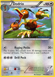 Dodrio Plasma Storm Pokemon Card