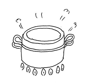 Cook in cocotte by Yukié Matsushita