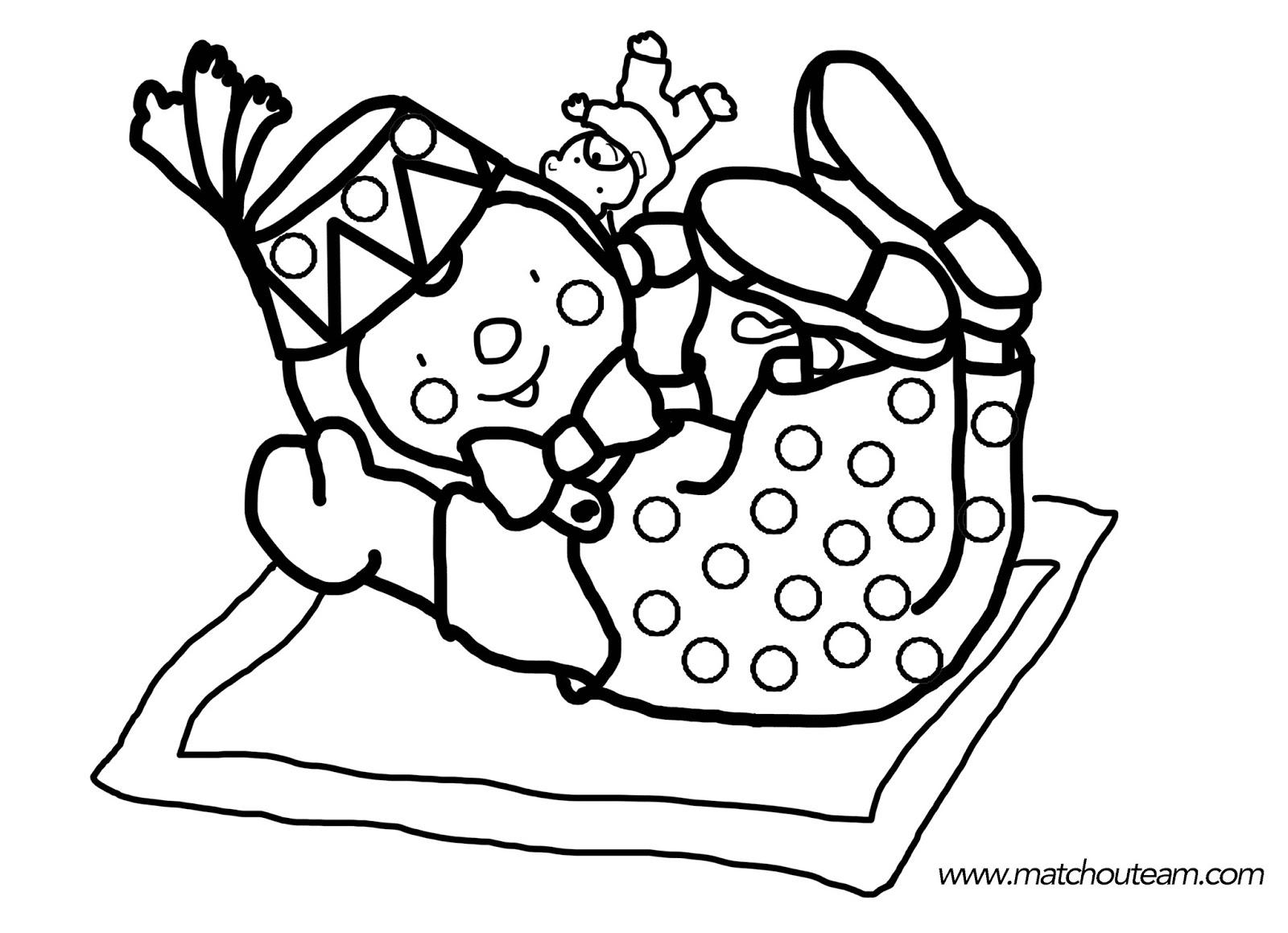 Coloriage à imprimer : Carnaval des ours Familiscope