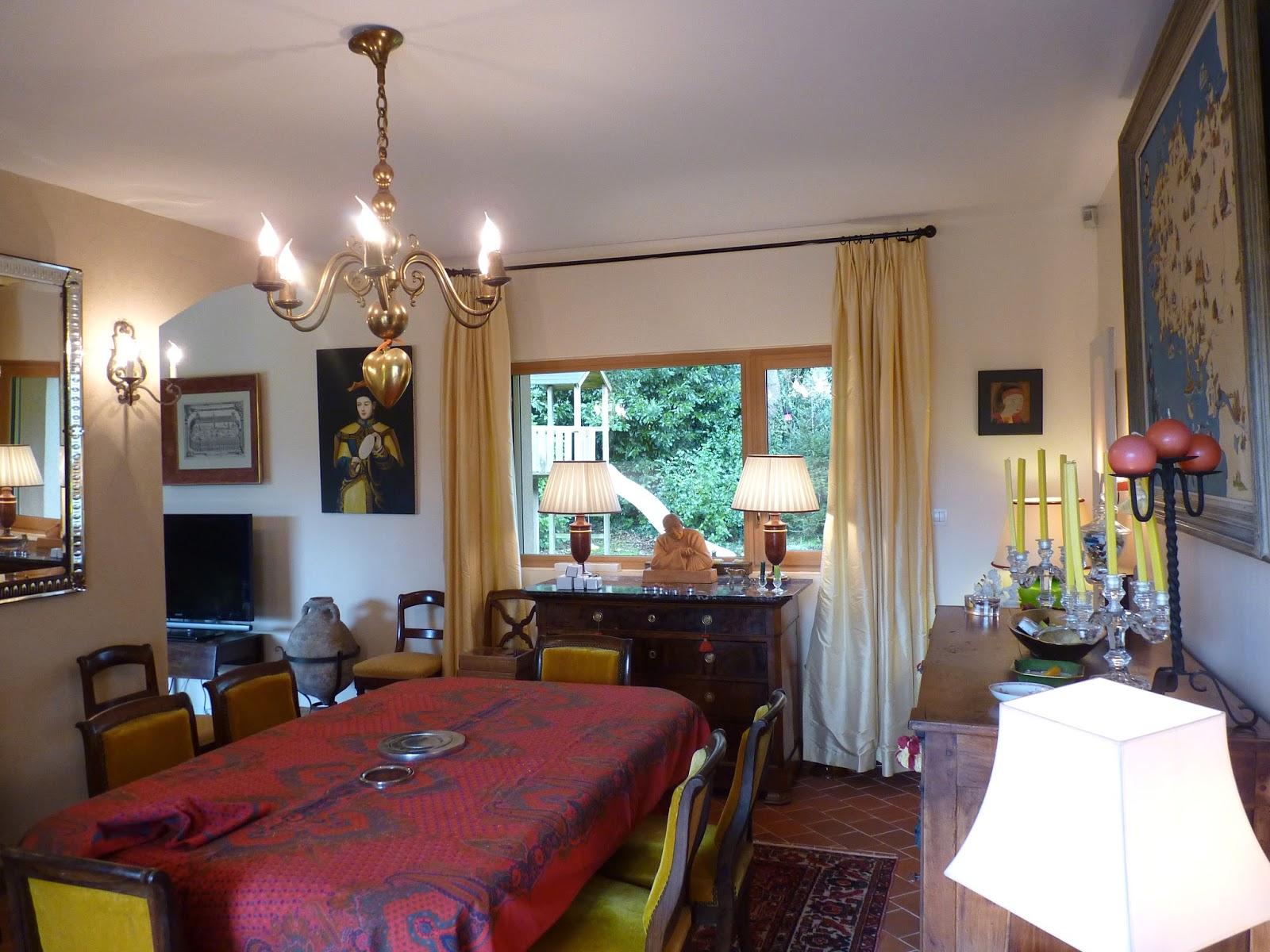 Zoline art salon salle manger contrastes et tons sur tons for Peinture mur salle a manger