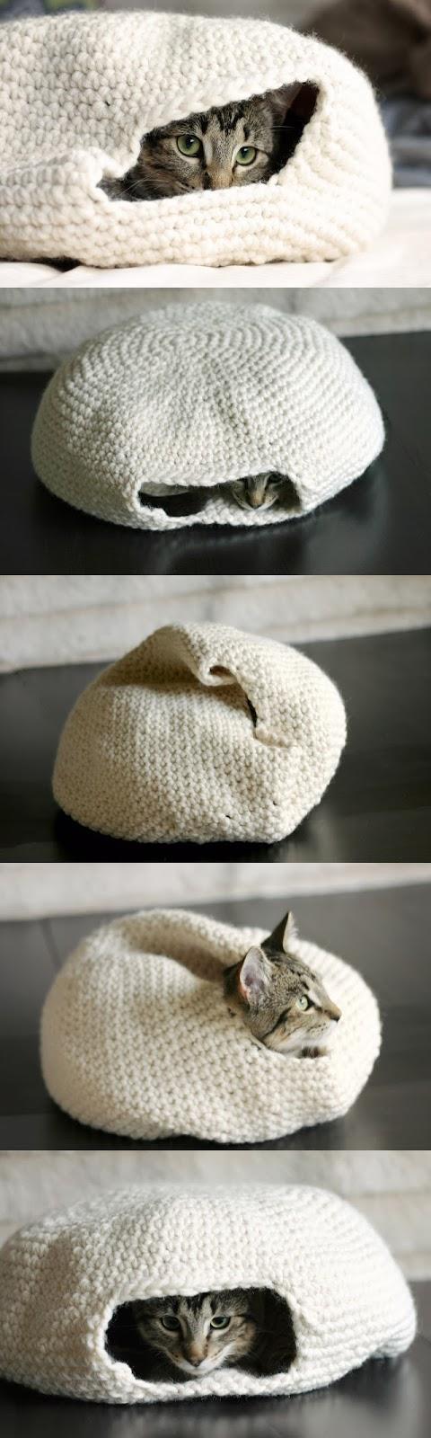 Crochet Pattern For Cat Bed : DIY Crochet cat bed - HANDY DIY