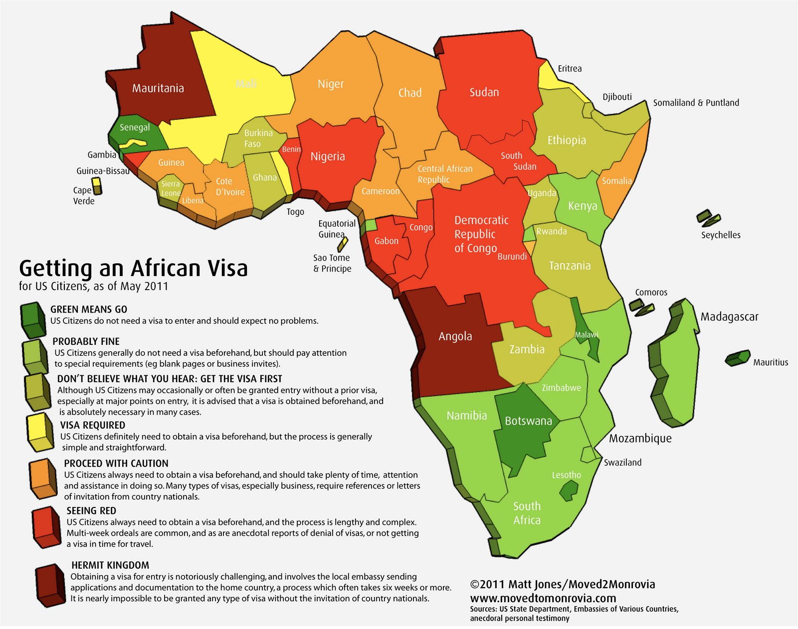 Moved Monrovia Just How Easy Or Hard Is It To Get African Visas - Us visa map