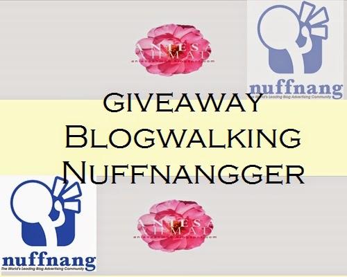GIVEAWAY BLOGWALKING NUFFNANGGER