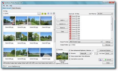برنامج مجاني مميز لتعديل وتحرير وتغيير حجم الصور في مجموعات FastStone Photo Resizer 3.2