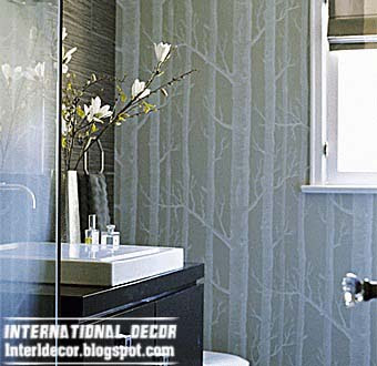 Modern wallpaper for bathrooms 2014 10 basic rules for for Antifungal bathroom paint
