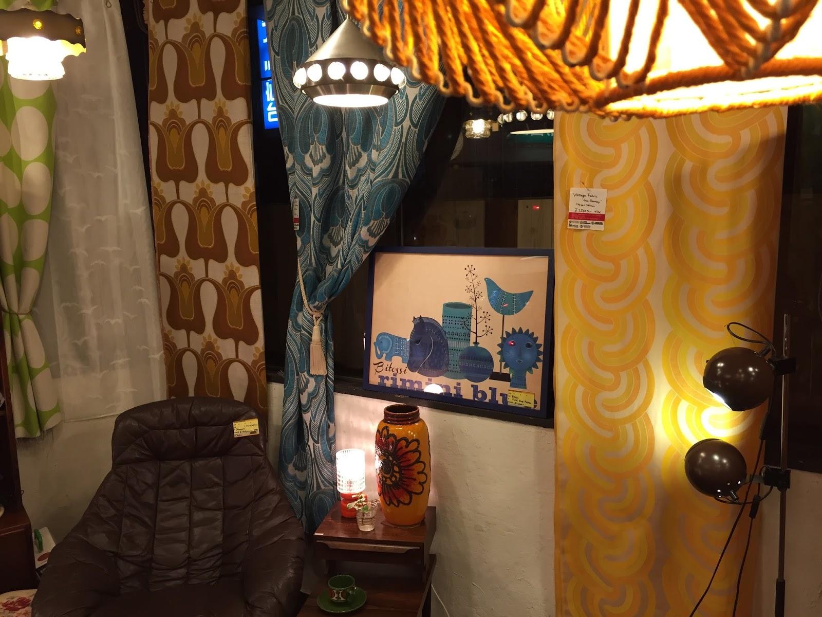ヴィンテージの生地をカーテンに♪ | 3days-grunge 仙台xインテリアx部屋
