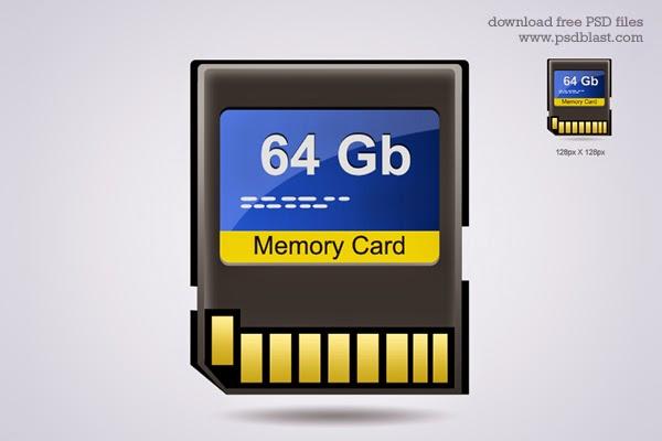 Memory Card Icon PSD