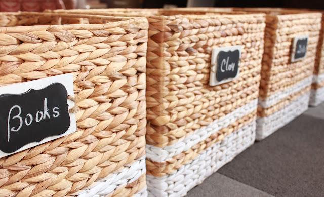 how to customize plain wicker baskets