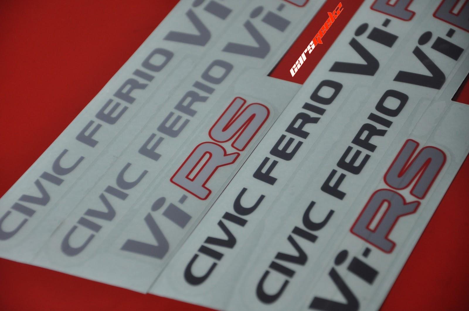 ViRS - civic ferio decals stickers 1