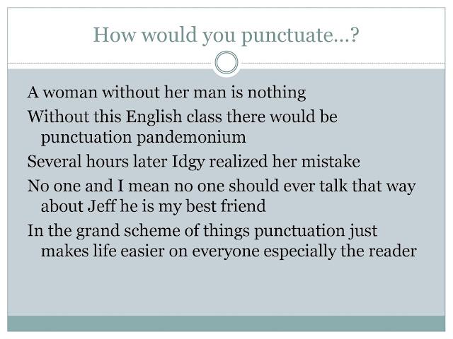 writing center workshops punctuation