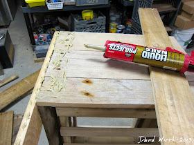 glue wood pallets, boards, cooler
