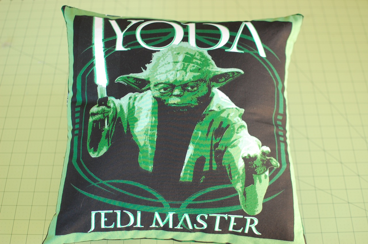 Yoda Jedi Master pillow cover