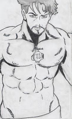Desenho Do Homem De Ferro Pintado   Esse Desenho E Um Pouco Antigo