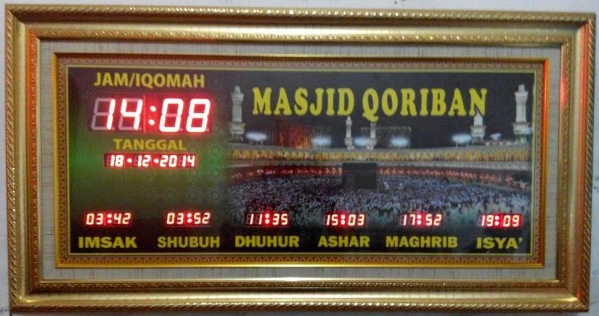harga jam digital untuk masjid - jual jam digital masjid