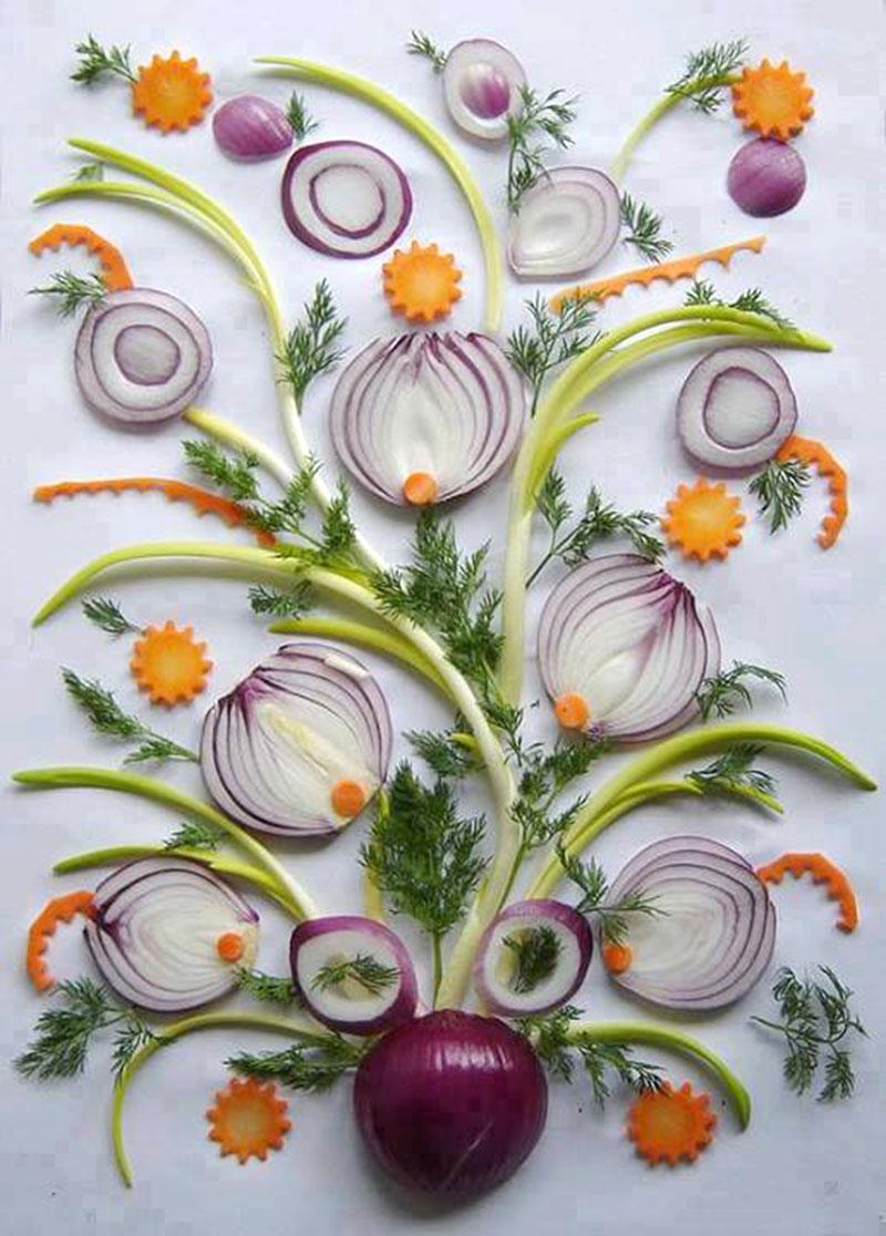 Как сделать панно из овощей и фруктов