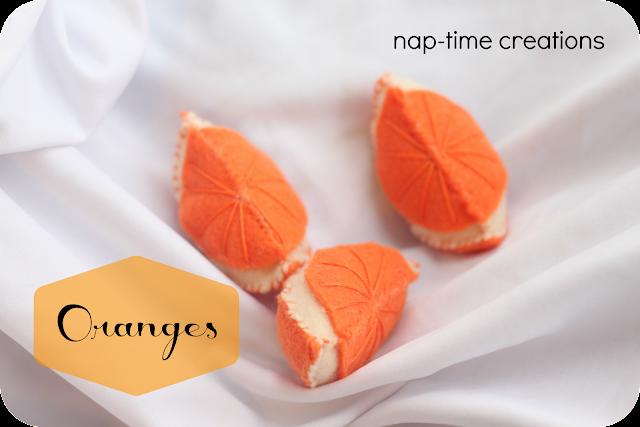 felt food oranges