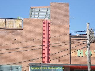 Rozelle hotel facade detail
