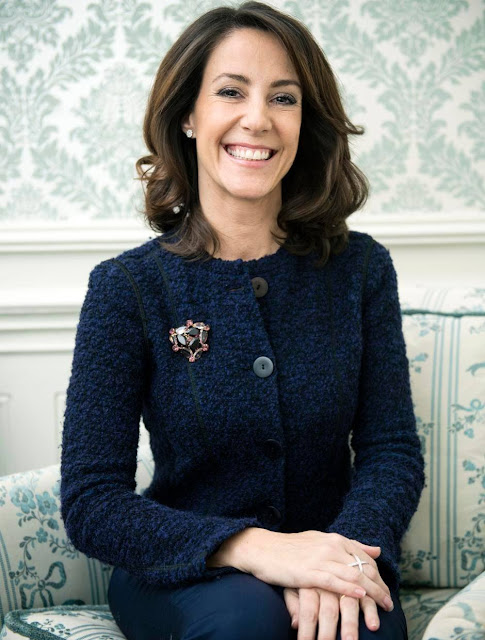 Princess Marie of Denmark has given an interview to Danish newspaper Jyllands Posten recently.