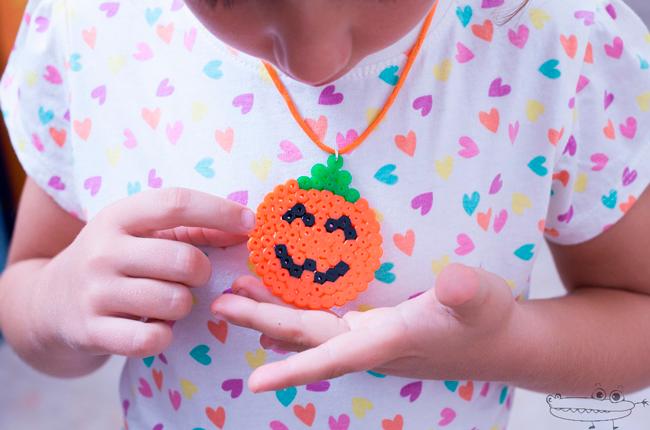Especial Halloween: colgante calabaza de Hama