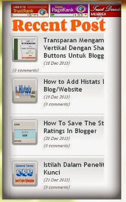 Widget in Blogger