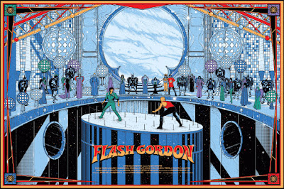 Flash Gordon Screen Print by Kilian Eng x Mondo
