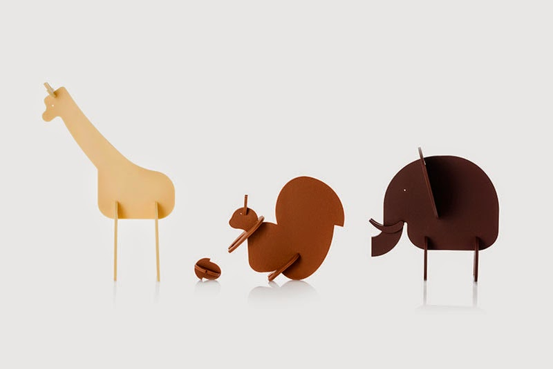 animales de chocolate con el Kit Animalium