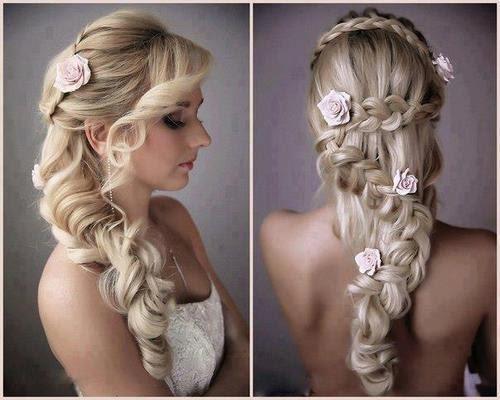 Resultado de imagem para penteados de noiva 2017
