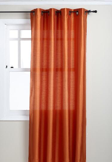 orange curtain panels