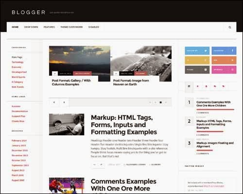 AcosminBlogger Free WordPress Theme