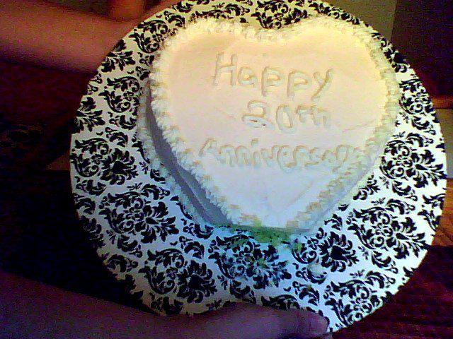 A baker s joy th wedding anniversary heart cake