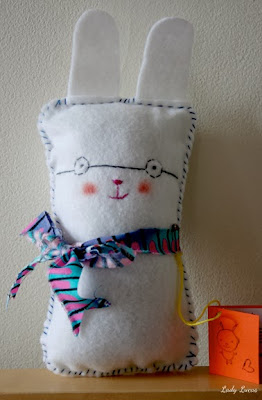 Bunny with Eyeglasses Doll for Nursery