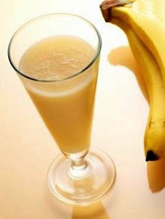 Jus buah pisang segar