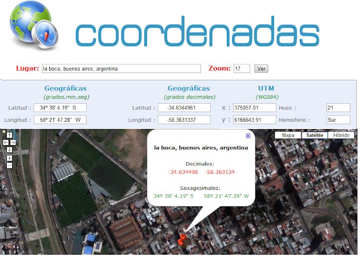 COORDENADA GEOGRÁFICAS