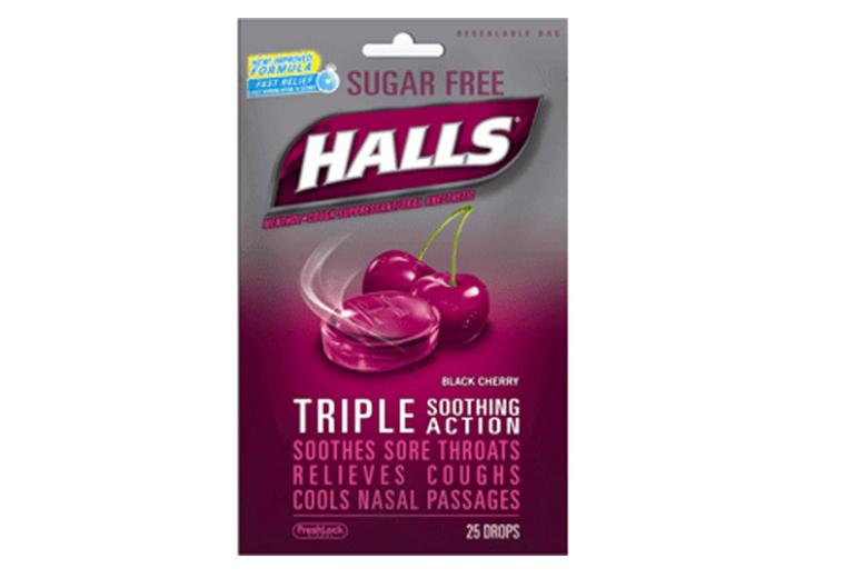 Halls Cough Drops. gross cough drops, coffee,