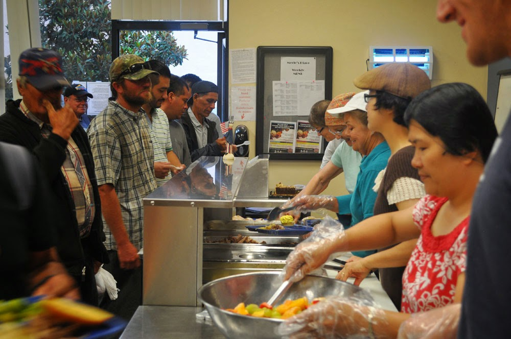 Christ In The Soup Kitchen Line